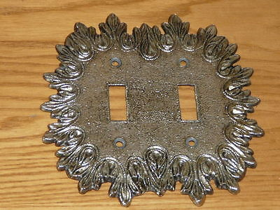Vintage Metal Double Switch Wall Plate Cover