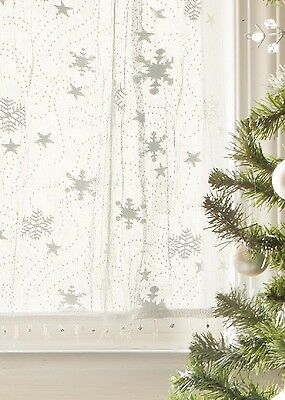 Heritage Lace CHRISTMAS Tier Wind CHILL with Trim 45x24 WHITE Made in USA