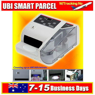 POS Money Bill Note Cash Aounter Counting Machine Currency Counterfeit Detector
