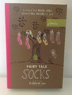 BNWT Joules Fairytale Sock Set - Box of 3 -RRP £17.95 - Size S/M,M/L