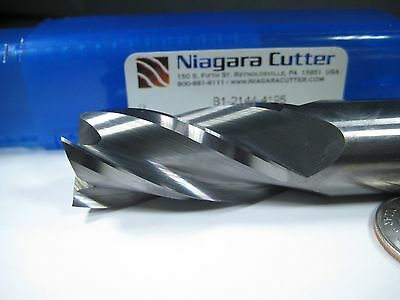 "Niagara Carbide 3/4"" End Mill Milling Metalworking Machinist Cutter Lathe Tool"