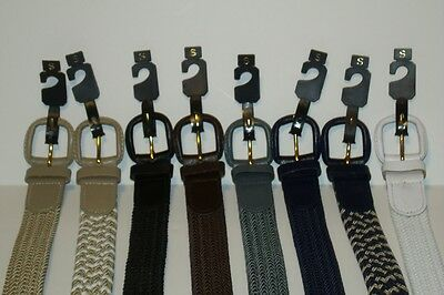 "Braided Elastic and Bonded Leather Stretch Belts 1.25"" Wide Sizes to 8XL"