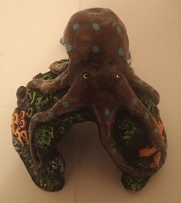 Medium Octopus Aquarium Fish Tank Hide/Cave Ornament Decoration