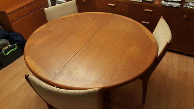 Vintage Edvard Valentinsen Teak Dining Table w/ Chairs and 2 Extensions