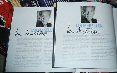Ian Mckellen Signed No Man's Land Theatre  Programme Lord Of The Rings X Men