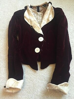 1880s Victorian Monogramm Bodice hand made beautiful size small