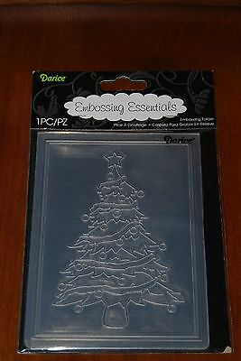 Darice ~ CHRISTMAS TREE ~  A-2 Universal Embossing Folder 1215-56