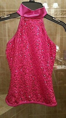 Girl's size medium child dance top from balera  pink glitter NWOT-pretty