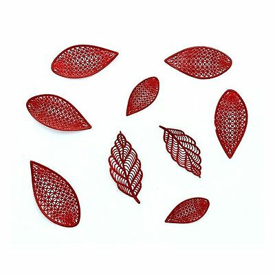 28 Pieces Loose Leaves Set Of Edible Sugar Laces - Cakes/cupcakes Toppers