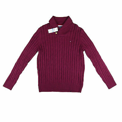 Tommy Hilfiger NEW Men's X-LARGE Shawl Collar Pullover Sweater cotton wool knit