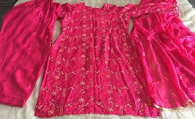 Pakistani Embrioded Chiffon  Suit COLLECTION STITCHED SHALWAR KAMEEZ SUIT Large