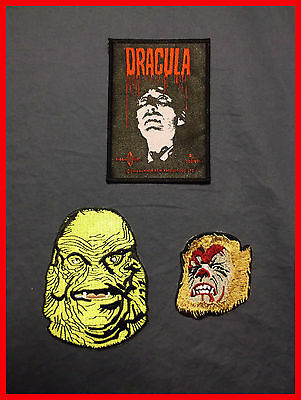 Rare Monsters patches- Christopher Lee Dracula - Wolfman - Creature/Black Lagoon