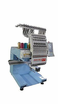Compact embroidery machine, single head, 15 needles, New Style, Cap, T-shirt