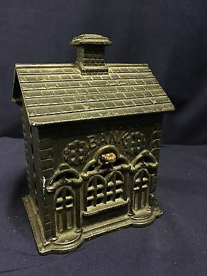 Antique Cast Iron Bank House Victorian Vintage