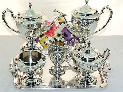 Tea Coffee Pots Amp Sets Silverplate Silver Antiques