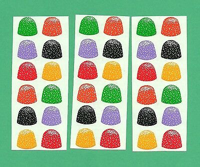 Vintage 1986 MRS. GROSSMAN'S Stickers GUMDROPS Christmas Candy SCRAPBOOKING Lot