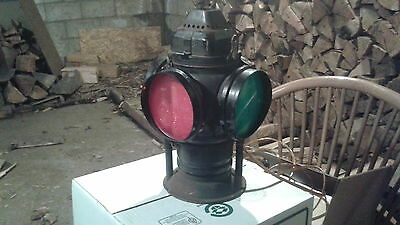 Vintage Converted Railroad Switch Lantern / Lamp / Light, Authentic, collectible