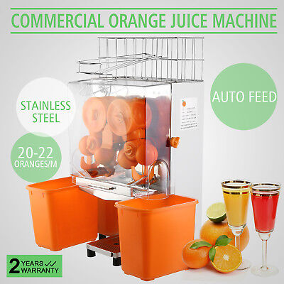 Commercial Electric Orange Squeezer Juice Machine Auto Feed Juicer Press POPULAR