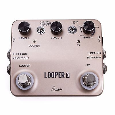 TWIN LOOPER Guitar Effect Pedal Mono Stereo I/O Sound Recording with USB Cable
