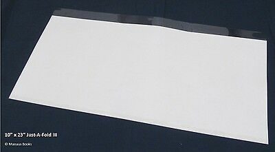"""1-10""""x23"""" Brodart Just-a-Fold III Archival Book Jacket Cover - Super Clear Mylar"""