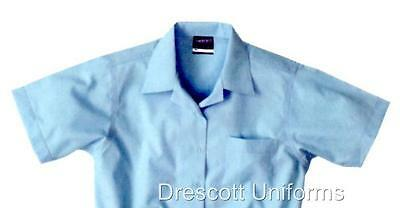 New MIDFORD BOYS Short Sleeve OPEN NECK Shirt - SKY BLUE Various Sizes RRP$28.00