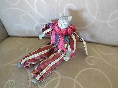 "RUSS BERRIE & CO. ""A Royal Winterfest"" Poseable Cat - with Tag"