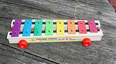 Fisher Price Pull-A-Tune Pull Toy-Made In Usa
