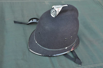Vintage British Police Bobby Hat Helmet Custodian Without Badge Sz 58 EXCELLENT