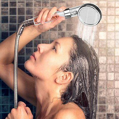 High Pressure Shower Head Bathroom Turbo Powerful Energy Water Saving Filter NEW
