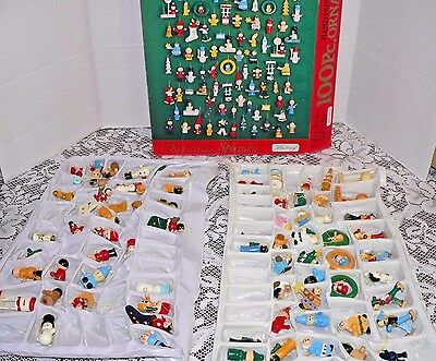 81 Vtg Wood Christmas Ornaments Whitney Hand Painted