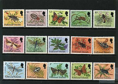 FALKLAND ISLANDS 1984 Sc#387-401 INSECTS & BUTTERFLIES SET OF 15 STAMPS MNH