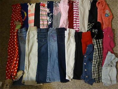 Girls Back to school Used Clothes Fall/ Winter Size 4-5 25 Pieces Cute