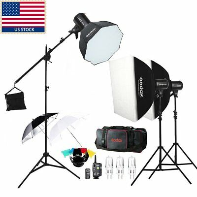 Godox E300 900W Photo Studio Strobe Flash light Photography Light + Softbox+ Bag