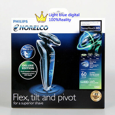 NEW Philips Norelco 8800 1290X/40 SensoTouch 3D Wet/Dry Electric Shaver Black