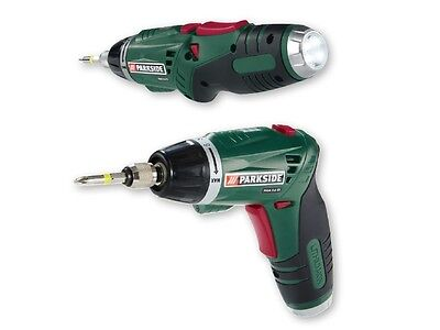NEW Parkside Cordless Screwdriver  PSSA 3.6 C4 Li-ion Lithium With 26 extra Bits