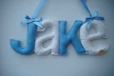 Personalised  door fabric  letters baby name  nursery girl boy christening gift
