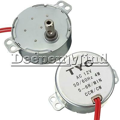 TYC-50 AC 12V 50/60Hz Synchronous Motor 5/6RPM CW/CCW 4W For Microwave Turntable