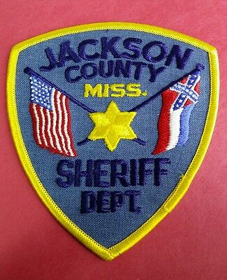 Jackson County, Mississippi Sheriff Blue (Police) Shoulder Patch Ms