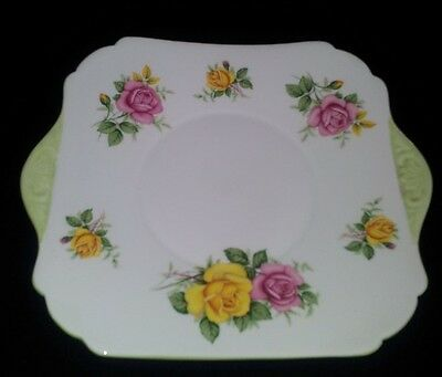 """Shelley """"cappers"""" Cake Plate #2346 C1940-66"""