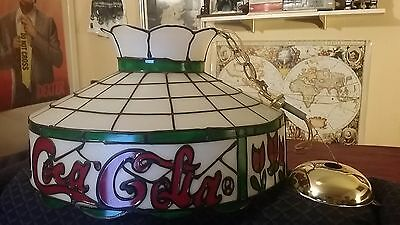 1962 Coca-Cola Coke Plastic Tiffany Stained Glass Style Lamp Shade