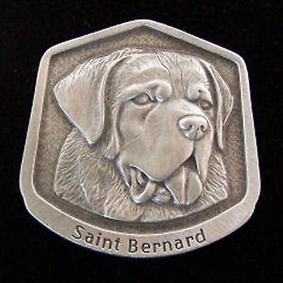 Saint Bernard Fine Pewter Dog Breed Ornament