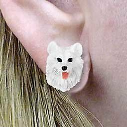 Conversation Concepts Samoyed Post Earrings