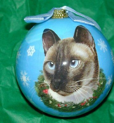 E&S Pets Christmas Ball Ornament - Siamese Cat