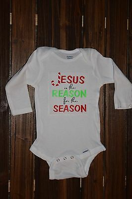 Jesus is the Reason for the Season Baby Bodysuit Funny Baby Cute Onesie {KC186}