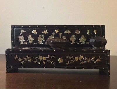 Antique Chinese Mother of Pearl Opium Damper Bowl Stand (Bowls Sold Separately)