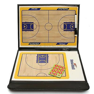 Basketball Match Tactic Coaching Board with Pen Eraser Magnet Marker Foldable