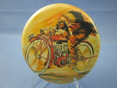 Indian Motorcycle 1914 Vintage Style Advertising Pinback Button  (Very Nice Pin)