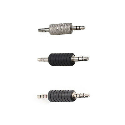 3.5mm Stereo Audio Plug Male to Male Jack Connector/Coupler Adapter Joiner