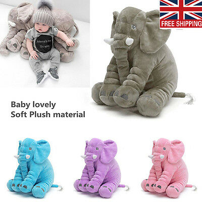 Baby Kid Long Nose Elephant Doll Pillow Soft Plush Stuff Toy Lumbar Pillow Gift