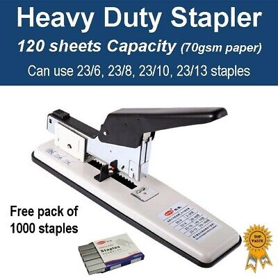 Heavy Duty Home Office Stapler 120 sheets capacity - Inc Pack of 1000 staples
